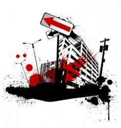 grunge city vector image