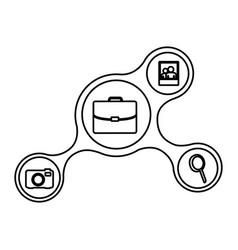icons connect network online vector image vector image