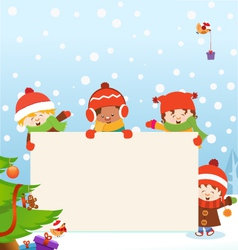 Kids Christmas Message vector image vector image