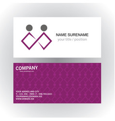people business logobusiness card vector image