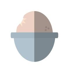 Soft boiled egg breakfast design shadow vector