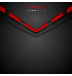 Dark modern corporate arrow design vector image vector image