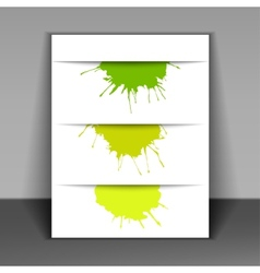 flyer with colored spots of paint vector image vector image