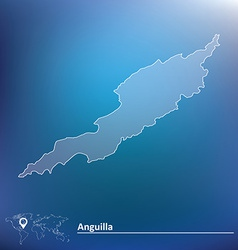 Map of Anguilla vector image