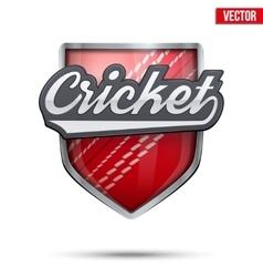 Premium symbol of Cricket label vector image vector image