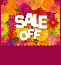 season sale off concept spring floral seamless vector image vector image