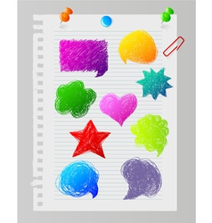 speech bubble paper vector image vector image