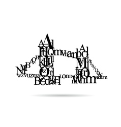 Typography London Bridge silhouette vector image vector image
