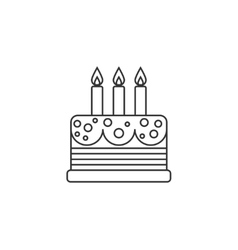 Cake thin line icon vector image