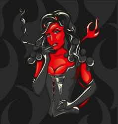 devil woman vector image