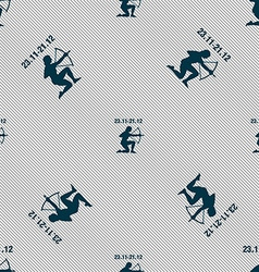 Sagittarius sign Seamless pattern with geometric vector image vector image