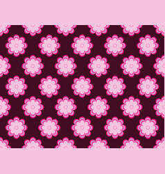 seamless floral pattern flowers with petals of vector image vector image