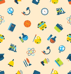 Seamless Pattern with Icons of Education Subjects vector image