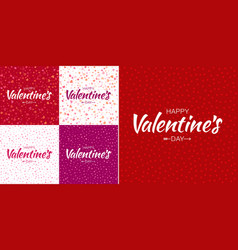 set of valentines day card backgrounds vector image
