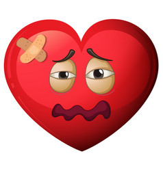 A heart character in pain vector