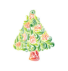 abstract beautiful christmas tree vector image