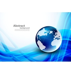 Abstract blue background with globes vector image