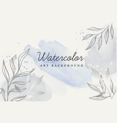 abstract botanical art design card vector image