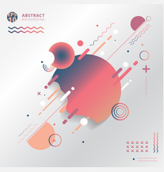 abstract geometric creative with lines circle vector image