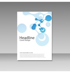 Abstract molecules brochure design cover vector