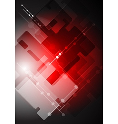 Abstract red tech backdrop vector image