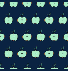 Apples hand drawn seamless pattern-03 vector