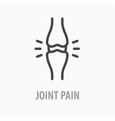 Arthritis line icon on white background vector