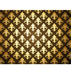 Background with Gold Fleur De Lis vector image