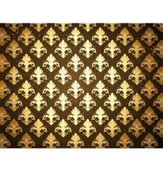 Background with Gold Fleur De Lis vector