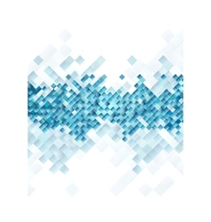 Blue tech squares on white background vector image