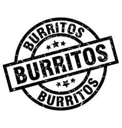 Burritos round grunge black stamp vector