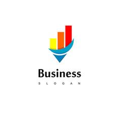 Business logo with good progress chart diagram vector