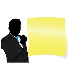 business man and paper vector image
