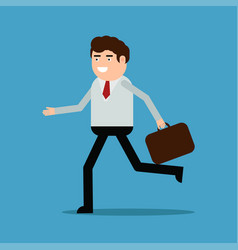 businessman running with a diplomat vector image