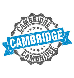 Cambridge round ribbon seal vector