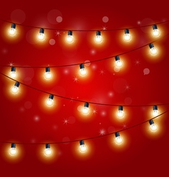 Christmas Lights - festive carnival garland vector