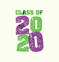 Class of 2020 concept stamped word art vector