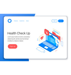 clinic health check up concept vector image