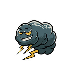 cloud monster with thunderbolt vector image