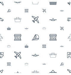 Commercial icons pattern seamless white background vector