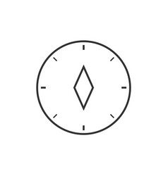 compass outline icon vector image