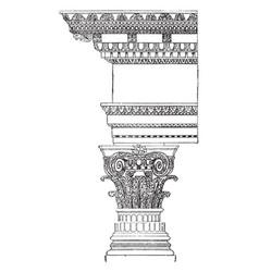 Composite order ornament vintage engraving vector