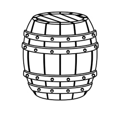 contour wooden barrel icon image design vector image