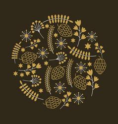 Decorative ornament design vector