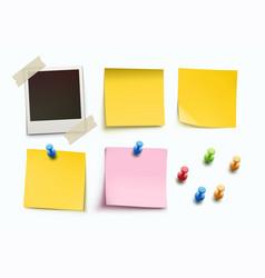 design elements for bulletin board vector image