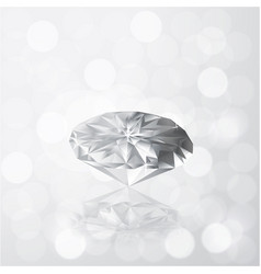 Diamond on grey white color bokeh light with vector