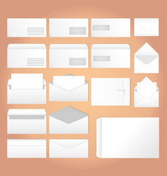 Envelopes for letters vector