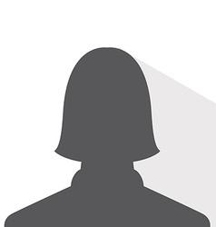Female avatar profile picture silhouette light vector
