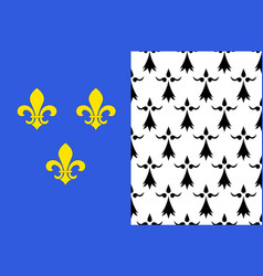 Flag of brest in finistere in brittany france vector