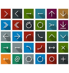 Flat arrow icons vector image
